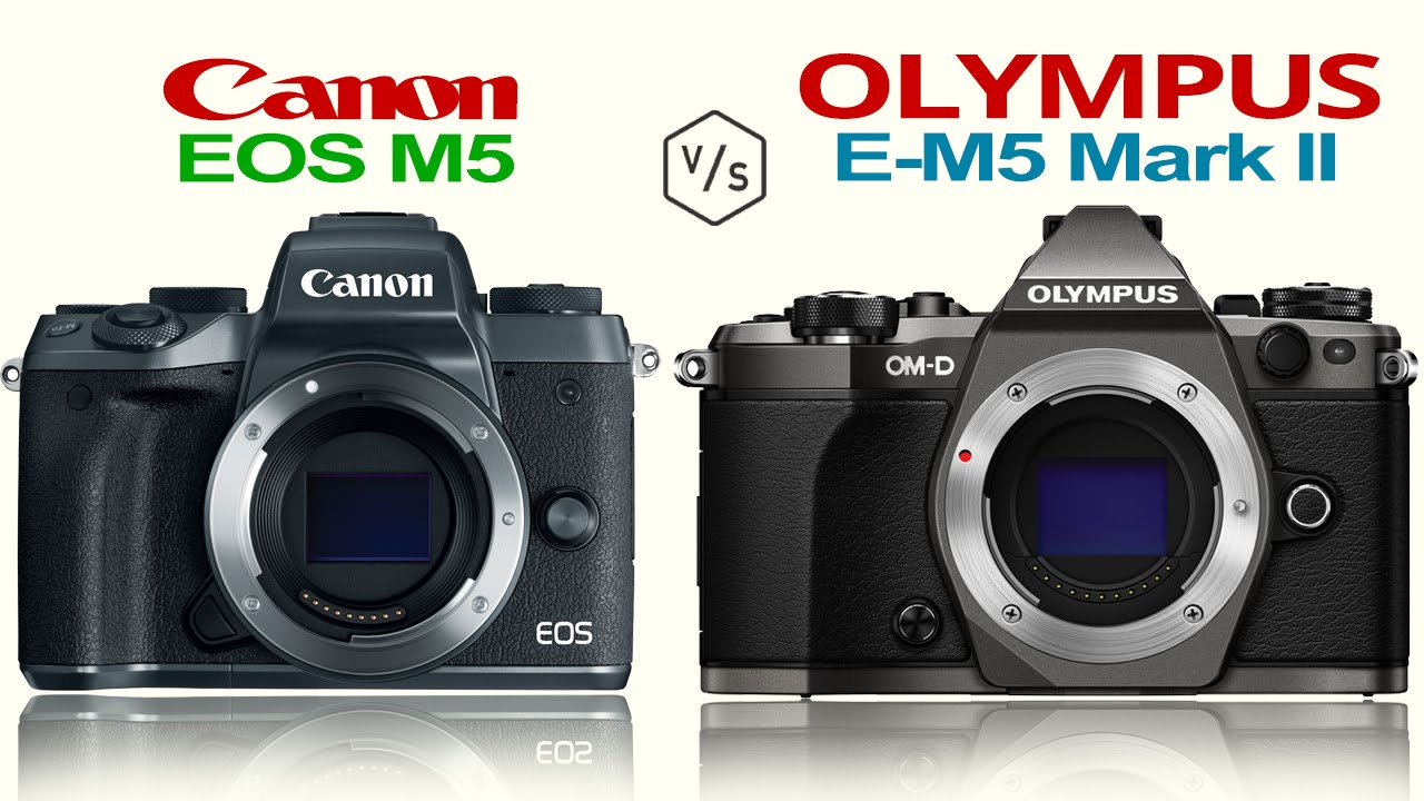 canon eos m5 vs olympus omd e m5 mark ii youtube. Black Bedroom Furniture Sets. Home Design Ideas