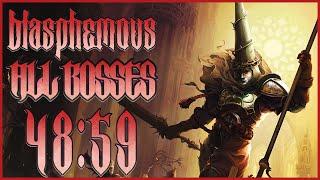 Blasphemous: World Record All Bosses Glitchless Speedrun in 48:59 LRTA. (1/28/2020)