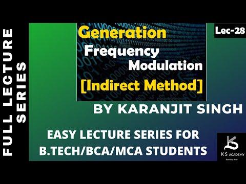 Generation Of FM(Indirect Method)  B Tech  Communication System  4th Sem  Lect28