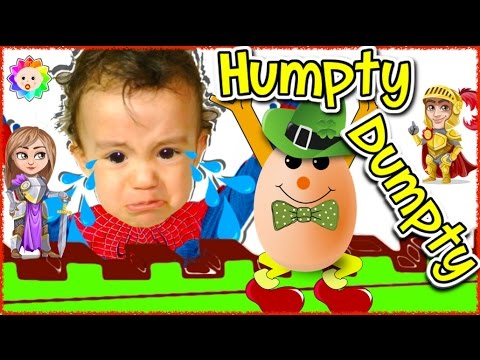 Thumbnail: HUMPTY DUMPTY Sat on the Wall Song + Lyrics 🎵 Learn Rainbow COLORS w/ CRYING BABY 🌈 Nursery Rhymes