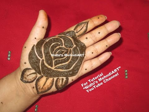 Mehndi Flower Designs For Hands : Bold and thick rose henna tattoo designs tutorial easy flower