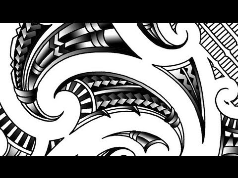 Drawing A Maori Inspired Shoulder Tattoo YouTube