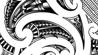 Drawing a Maori inspired shoulder tattoo