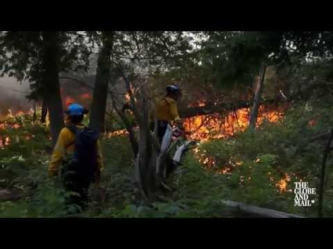 Watch how a Parks Canada crew conducts a controlled forest fire