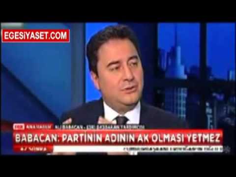 Ali Babacan'dan Şok Sözler: Partinin Adının Ak Olması Yetmez