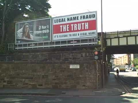 LEGAL NAME FRAUD Poster Gorgie Road EDINBURGH
