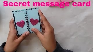 DIY- Secret message card