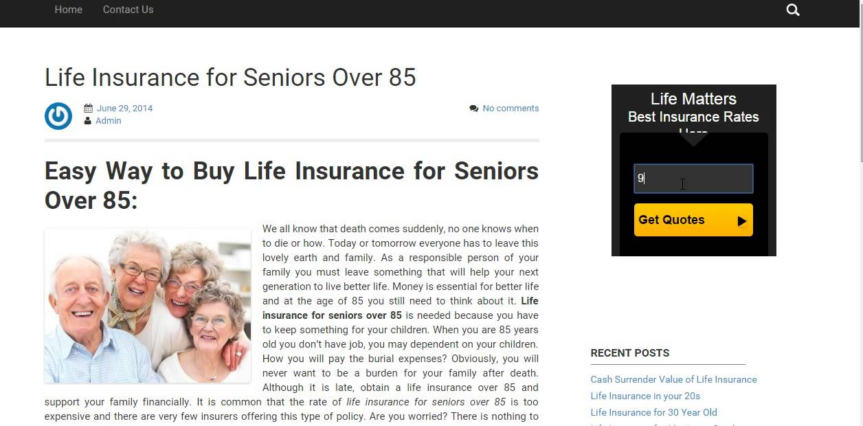 Whole Life Insurance Quotes For Seniors Alluring Whole Life Insurance For Seniors Over 85  Youtube