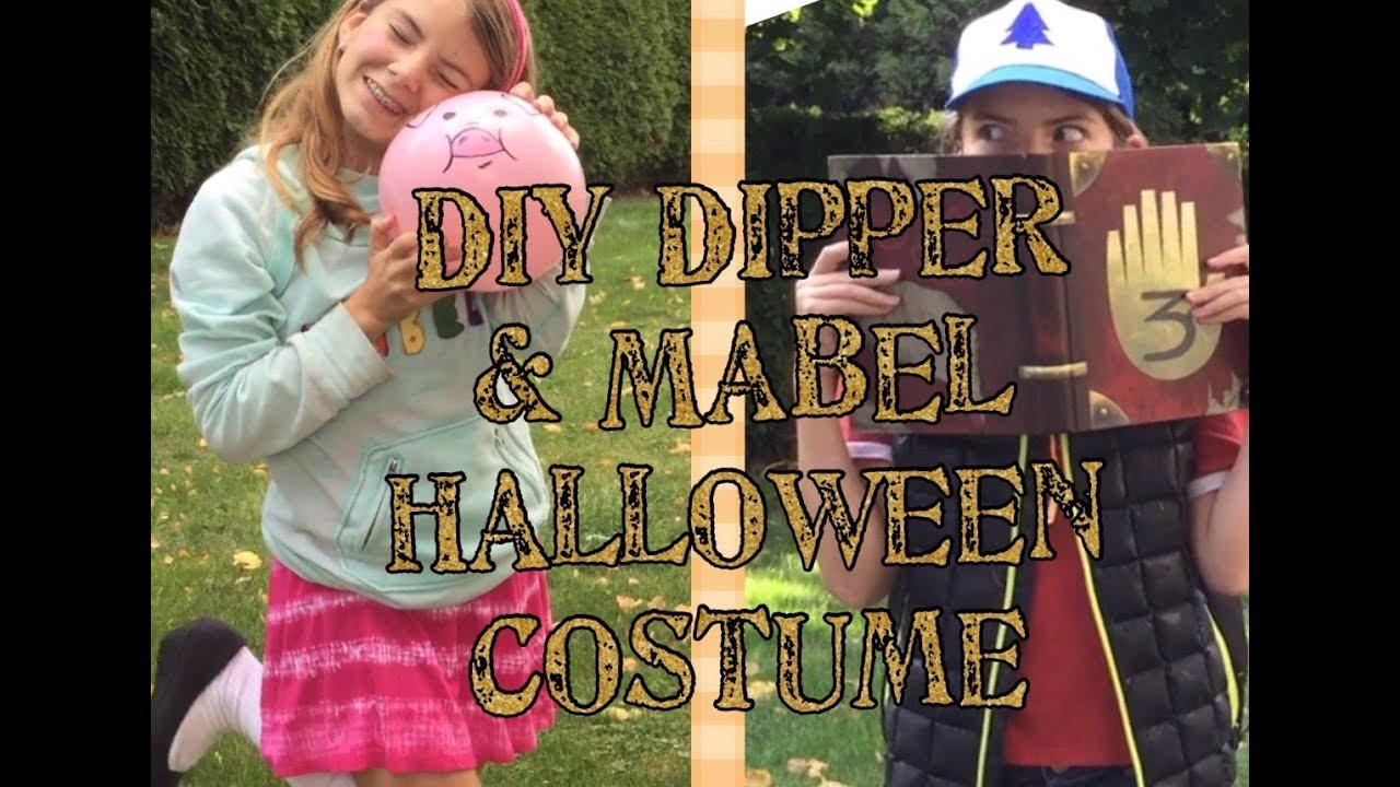 DIY Dipper and Mabel Costume | Cheap and Easy Gravity Falls Cosplay  sc 1 st  YouTube & DIY Dipper and Mabel Costume | Cheap and Easy Gravity Falls Cosplay ...