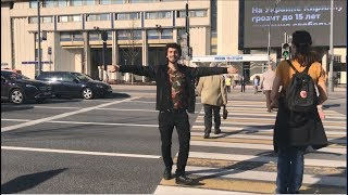 Парень Станцевал На Пешеходной Дорожке В Москве 2019 ALISHKA Лезгинка (Россия)