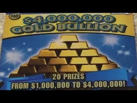 $10 - $4,000,000  GOLD BULLION -MASS.  Lottery Scratch Off instant win tickets - Scratcher