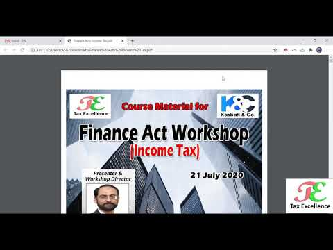 Finance Acts 2020   Direct Taxes1
