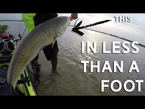 Catching HUGE Redfish | Kayak Fishing Texas