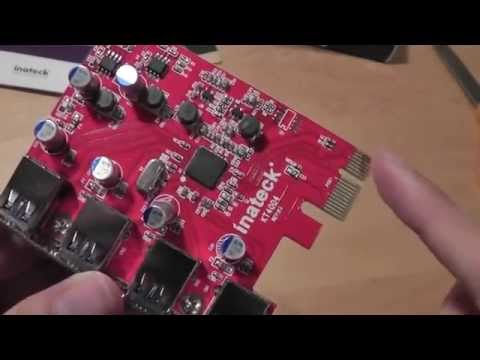 Inateck 4 Ports PCI-E to USB 3.0 Expansion Card Unboxing: