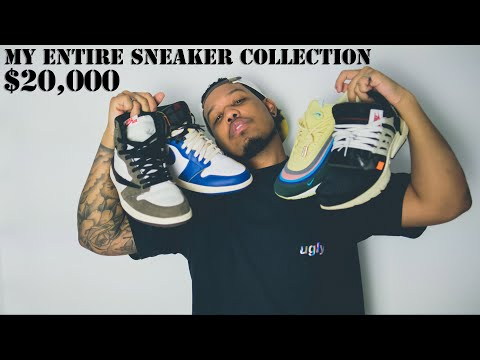 MY ENTIRE $20,000 SNEAKER COLLECTION // BEST BEGINNER SNEAKER COLLECTION ON YOUTUBE!