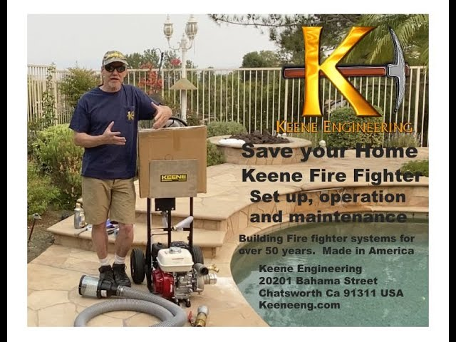 Keene Fire Fighting system, Set up, shut down and maintenance