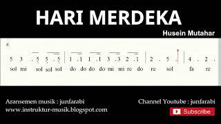 not angka hari merdeka / 17 agustus 1945 - do = C Mayor - lagu wajib nasional - doremi solmisasi