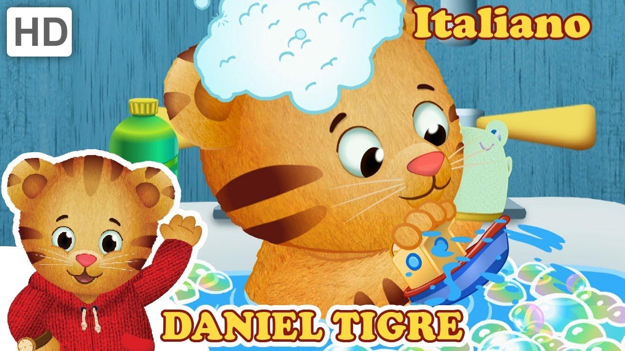 Caillou Vasca Da Bagno.Daniel Tiger In Italiano Tempo Del Bagno Con Daniel Video Per Bambini