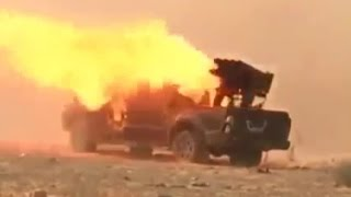 Уникальные кадры стиля ведения боевых действий террористов ИГИЛ! Суета и паника!