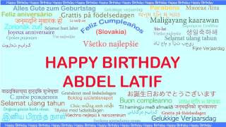AbdelLatif   Languages Idiomas - Happy Birthday