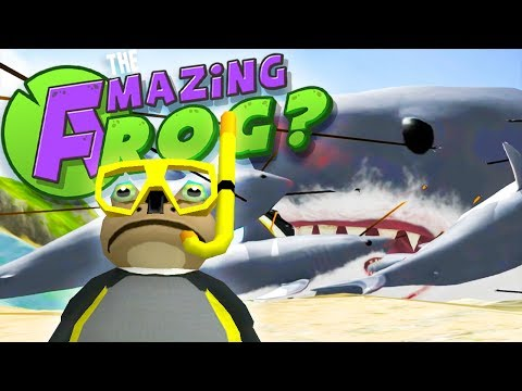 BIGGEST SHARK EVER - Let's Play Amazing Frog Funny Gameplay - Megalodon in Amazing Frog PC