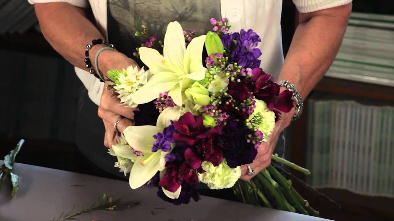 Diana ryan how to create a hand tied mixed flower bouquet youtube izmirmasajfo