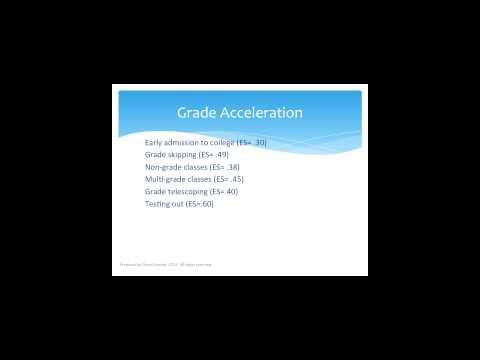Acceleration & Enrichment