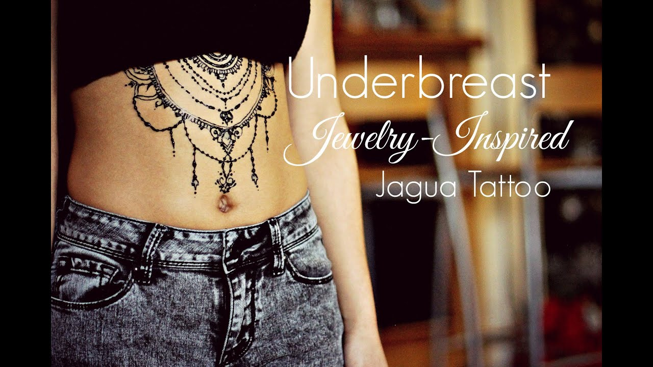 Henna Tattoo Designs Under Breast: Underbreast Jewelry Jagua Tattoo