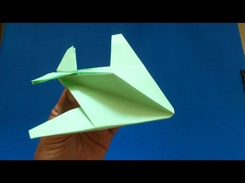 Cara Membuat Origami Pesawat Night Hawk | Origami Pesawat