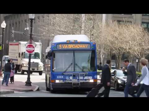 [MBTA BUS HD] Morning Bus Watching @ Copley Square