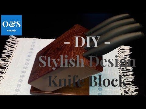 DIY - Design Knife Block  / Veitsiteline