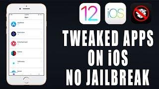 "Install Tweaked Apps on iOS 12/11/10 FREE ""NEW UPDATE"" NO Jailbreak iPhone iPad iPod"