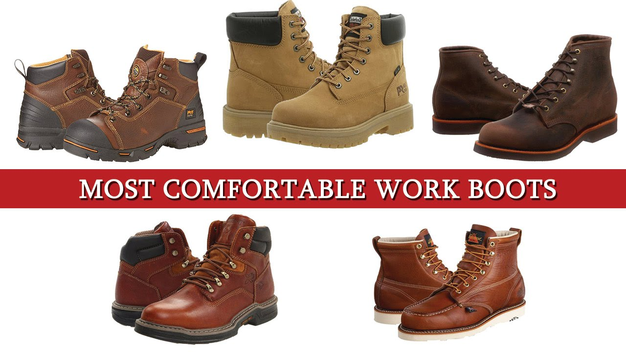 Top 5 of the Most Comfortable Work Boots - YouTube