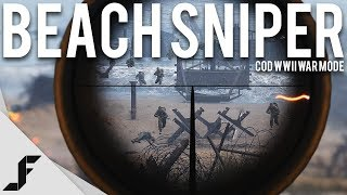 BEACH SNIPER - Call of Duty WW2 War Mode