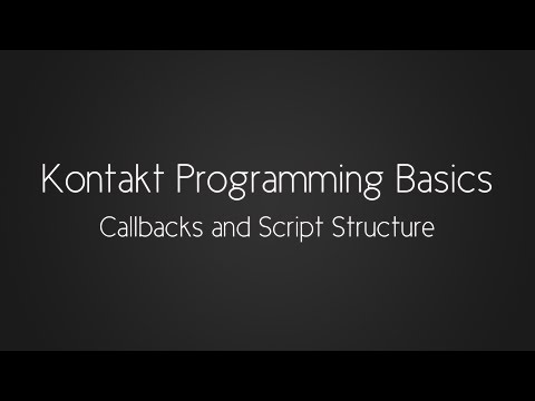 Scripting with Simon - Callbacks and Script Structure
