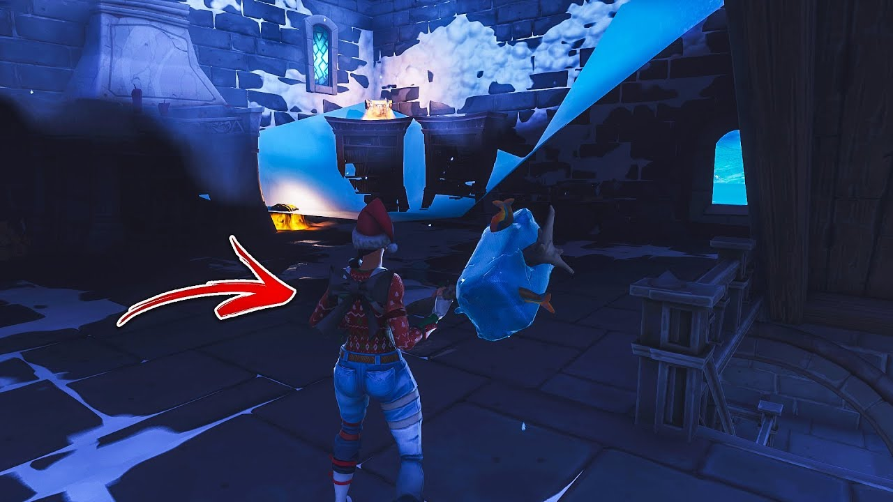 How to get inside the SECRET CASTLE TOWN by using this glitch! Secret Town Found! (Fortnite Glitch)