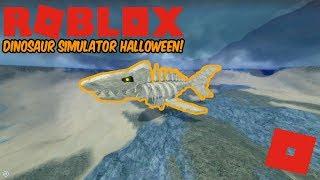 Roblox Dinosaur Simulateur Halloween - Comment obtenir des carcharocles fossiles Megalodon!