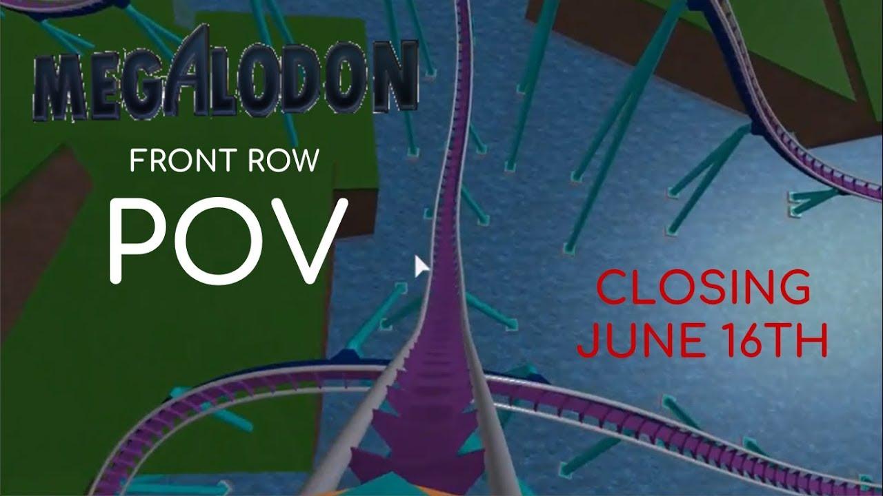 Megalodon Front Row POV - Universal Studios ROBLOX