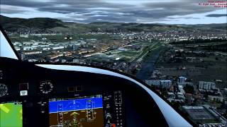 fsx hd landing in florence peretola with the cessna citation mustang