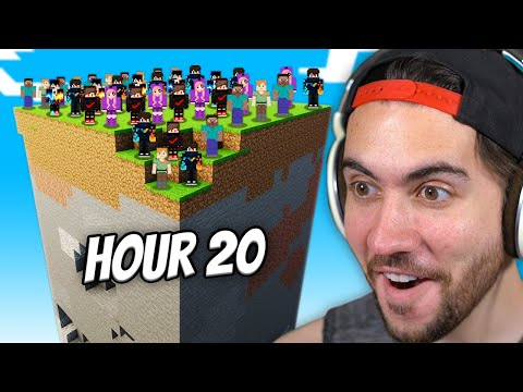 100 Minecraft Players Survive On ONE Chunk For 100 Days