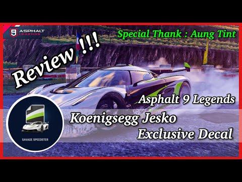 Asphalt 9 | Koenigsegg Jesko Exclusive Decal Review!