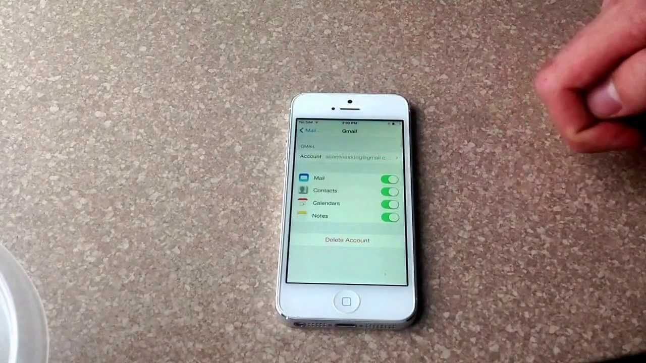how to erase iphone 5 how to delete an email account of an iphone 4 4s 5 5786