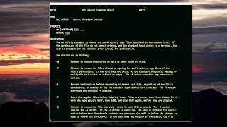 rm and rmdir (for deleting in unix)