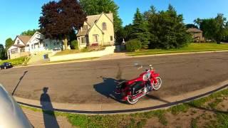 Cruising Around St. Paul, Minnesota on My 1965 Honda CA77 Dream