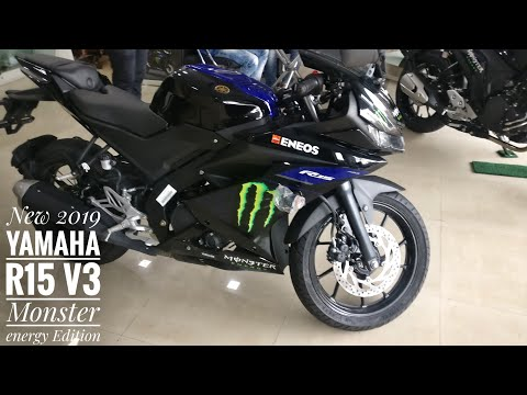 Launched New 2019 Yamaha R15 V3 Monster Energy Edition