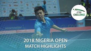 Wang Shaobo vs Ronit Bhanja | 2018 Nigeria Open Highlights (U21-Final)