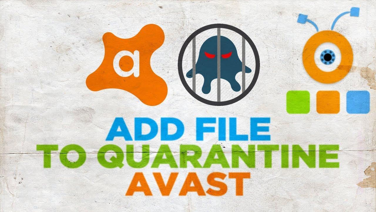 delete file from virus chest avast