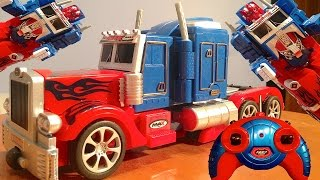 Transforming Optimus Prime Remote Control (RC) Toy - Automatic Transformations - Unbox and Review