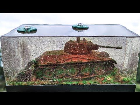 Диорама танка Т-34 под водой. Диорама второй мировой. Как сделать водную диораму из эпоксидной смолы