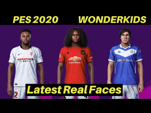 Top Wonderkids In PES 20 | REAL FACES | 16 To 21 Year Olds (part 2)